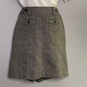 Ann Taylor Herringbone Gray Wool Blend 0P B2 0015